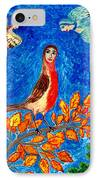 Bird People Robin IPhone Case by Sushila Burgess