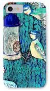 Bird People The Bluetit Family IPhone Case by Sushila Burgess