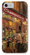 Bistrot Champollion IPhone Case by Guido Borelli
