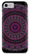 Black And White Mandala No. 3 In Color IPhone Case by Joy McKenzie