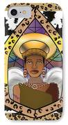 Black Angel IPhone Case by Brenda Dulan Moore