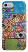 Blooming Cow IPhone Case by Karla Gerard