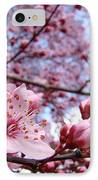 Blossoms Art Blue Sky Spring Tree Blossoms Pink Giclee Baslee Troutman IPhone Case by Baslee Troutman