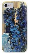 Blue Delphiniums For Nancy IPhone Case
