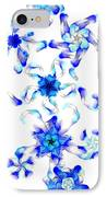 Blue Fractal Flowers IPhone Case