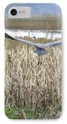 Blue Heron Flight IPhone Case