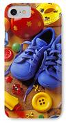 Blue Tennis Shoes IPhone Case by Garry Gay