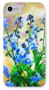 Blue Wildflowers IPhone Case