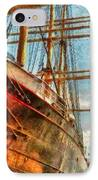 Boat - Ny - South Street Seaport - Peking IPhone Case by Mike Savad