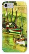 Boats At Honfluer France IPhone Case