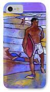 Boogieboarding At Sandy's IPhone Case by Douglas Simonson