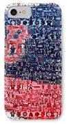 Boston Red Sox Cap Mosaic IPhone Case by Paul Van Scott