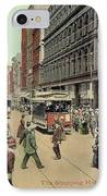 Boston: Washington Street IPhone Case by Granger