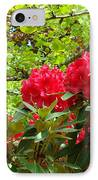Botanical Garden Art Prints Red Rhodies Trees Baslee Troutman IPhone Case