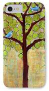 Boughs In Leaf Tree IPhone Case by Blenda Studio