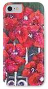 Bounganvillia On Fence IPhone Case