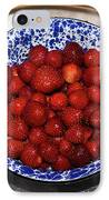 Bowl Of Strawberries 1 IPhone Case by Douglas Barnett