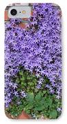 Brick Wall With Blue Flowers IPhone Case