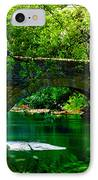 Bridge Over The Wissahickon IPhone Case by Bill Cannon