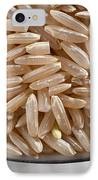 Brown Rice In Bowl IPhone Case by Steve Gadomski