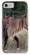 Buckaroo Cowgirl IPhone Case by Cindy Singleton