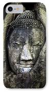 Buddha Head In Banyan Tree IPhone Case by Adrian Evans