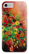 Bunch Of Flowers 0507 IPhone Case by Pol Ledent