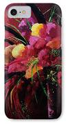 Bunch Of Red Flowers IPhone Case by Pol Ledent