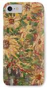 Burst Of Sunflowers. IPhone Case