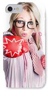 Businesswoman Training IPhone Case by Jorgo Photography - Wall Art Gallery