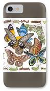 Butterflies Moths Caterpillars IPhone Case