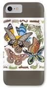 Butterflies Moths Caterpillars IPhone Case