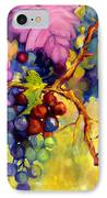 Butterfly And Grapes IPhone Case by Peggy Wilson