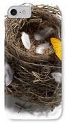 Butterfly And Nest IPhone Case by Tony Cordoza