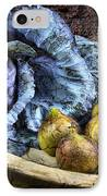 Cabbage And Figs IPhone Case by Sari Sauls
