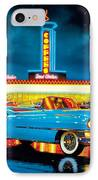 Cadillac Diner IPhone Case by MGL Studio - Chris Hiett