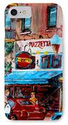 Cafe Piazzetta  St Denis IPhone Case