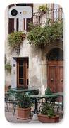 Cafe Seating In The Piazza Di Spagna IPhone Case by Jeremy Woodhouse