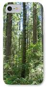 California Redwood Trees Forest Art Prints IPhone Case by Baslee Troutman