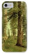 California Redwoods IPhone Case by Albert Bierstadt