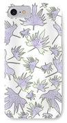 Canary Vine Leaves - Purple And Green IPhone Case