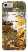 Canoe At Little Bass Lake IPhone Case by Larry Ricker