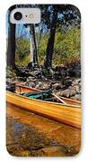 Canoe At Portage Landing IPhone Case by Larry Ricker