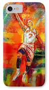 Carmelo Anthony New York Knicks IPhone Case by Leland Castro