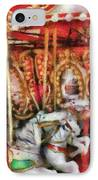 Carnival - The Carousel - Painted IPhone Case by Mike Savad