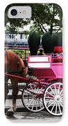Carriage Ride In Montreal IPhone Case by John Rizzuto