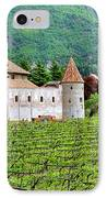 Castle And Vineyard In Italy IPhone Case