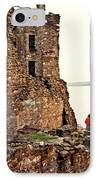 Castle Ruins On The Seashore In Ireland IPhone Case by Douglas Barnett