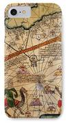 Catalan Map Of Europe And North Africa Charles V Of France In 1381  IPhone Case by Abraham Cresques