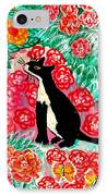 Cats And Roses IPhone Case by Sushila Burgess